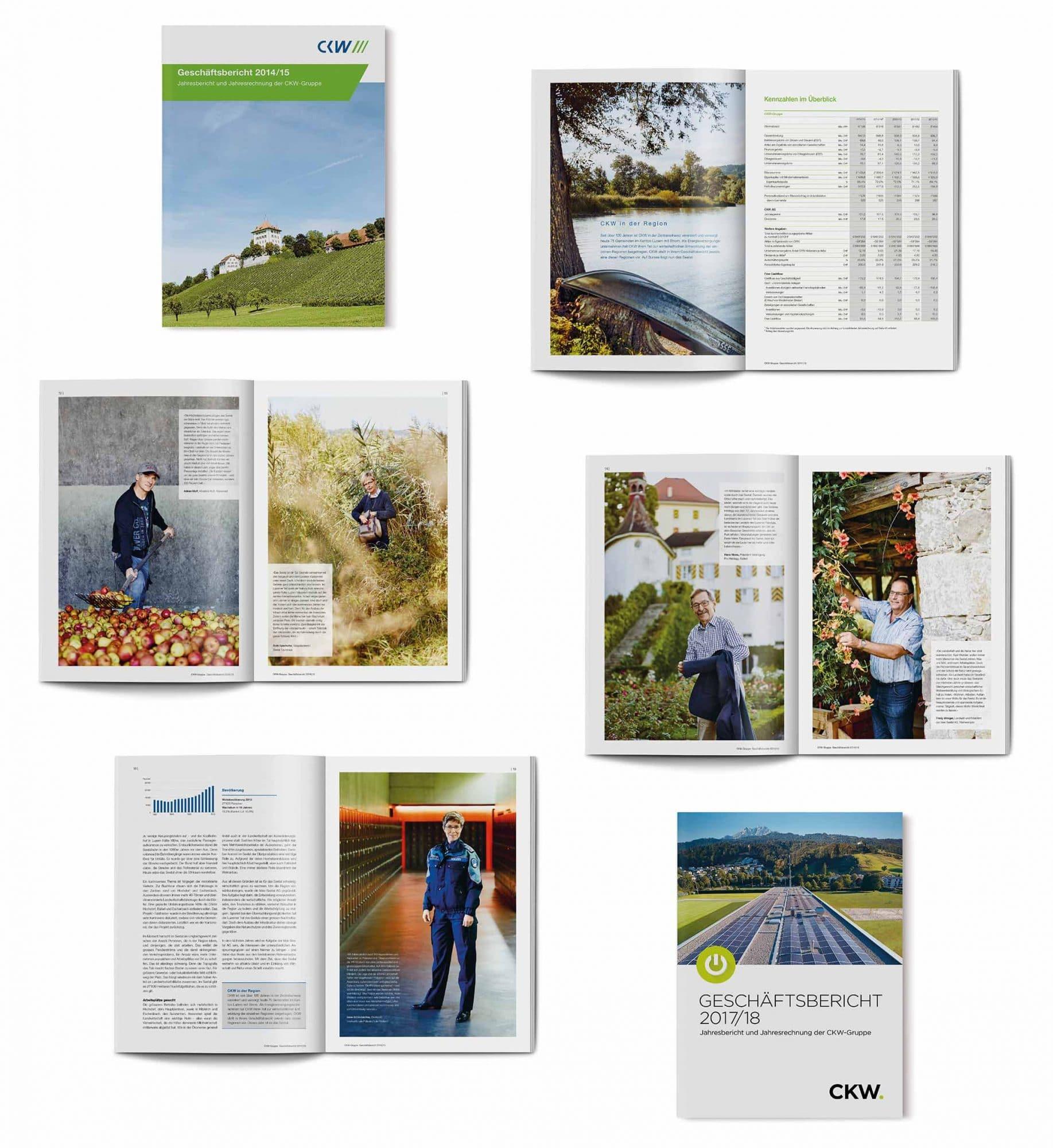 Geschäftsbericht CKW Beispielsseiten