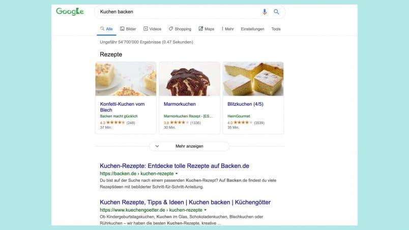 Rich Snipets helfen der Suchmaschine Google.