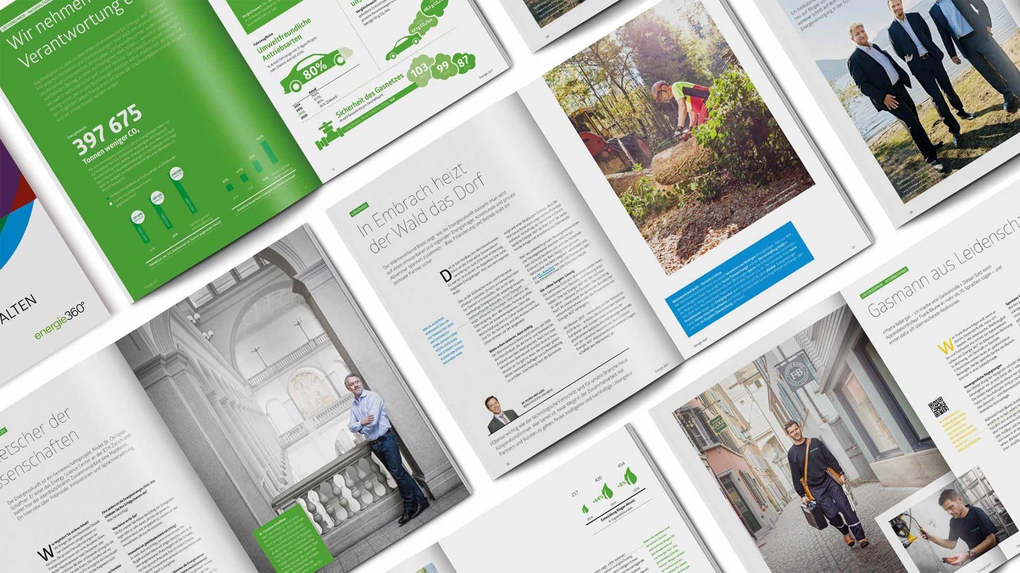Seiten aus dem Geschäftsbericht von Energie 360°