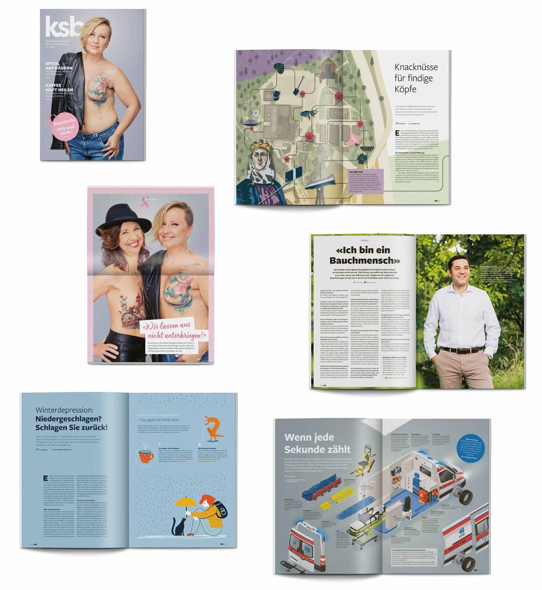 Seiten des KSB Magazins