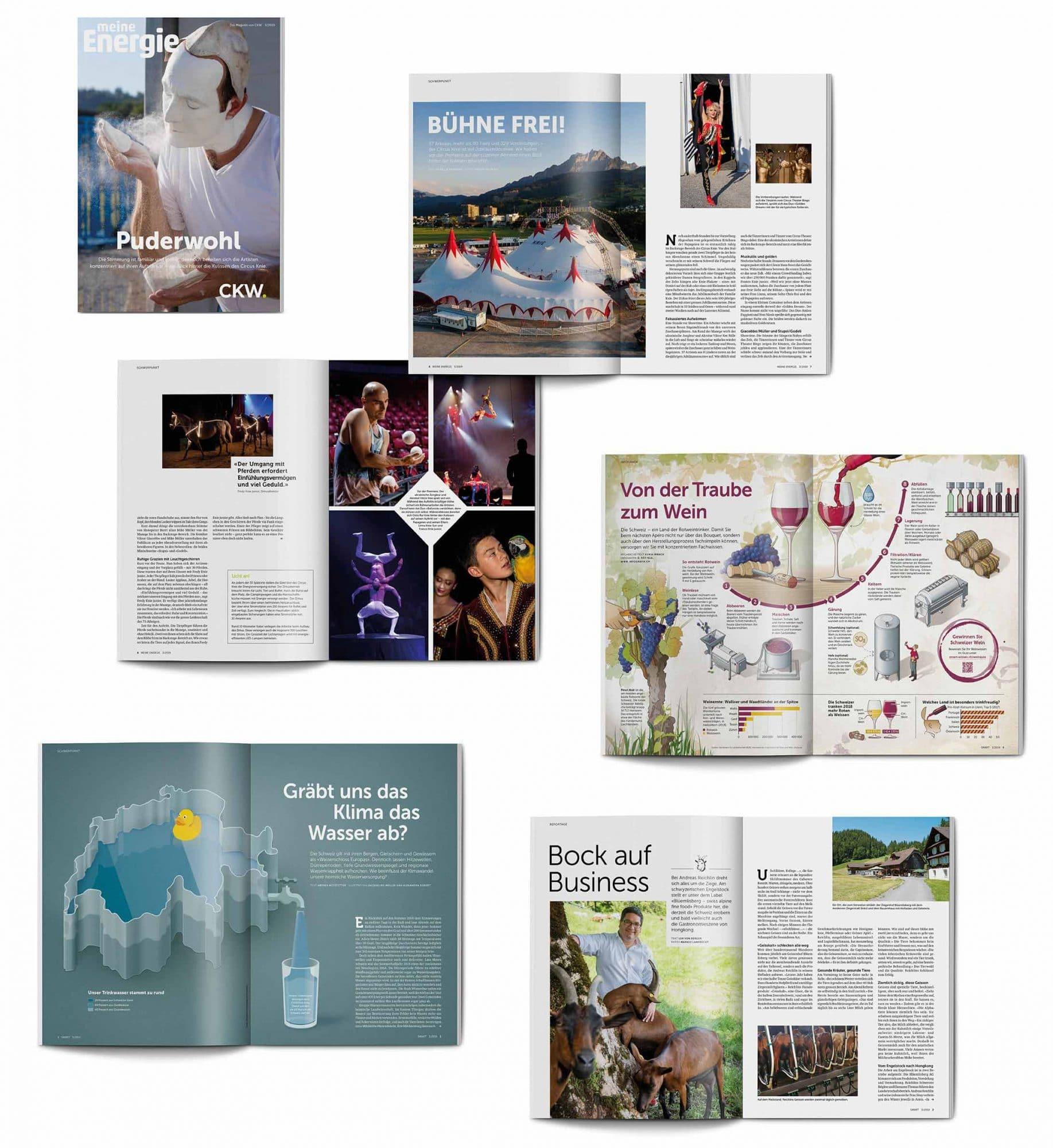 Beispielsseiten des Magazins smart