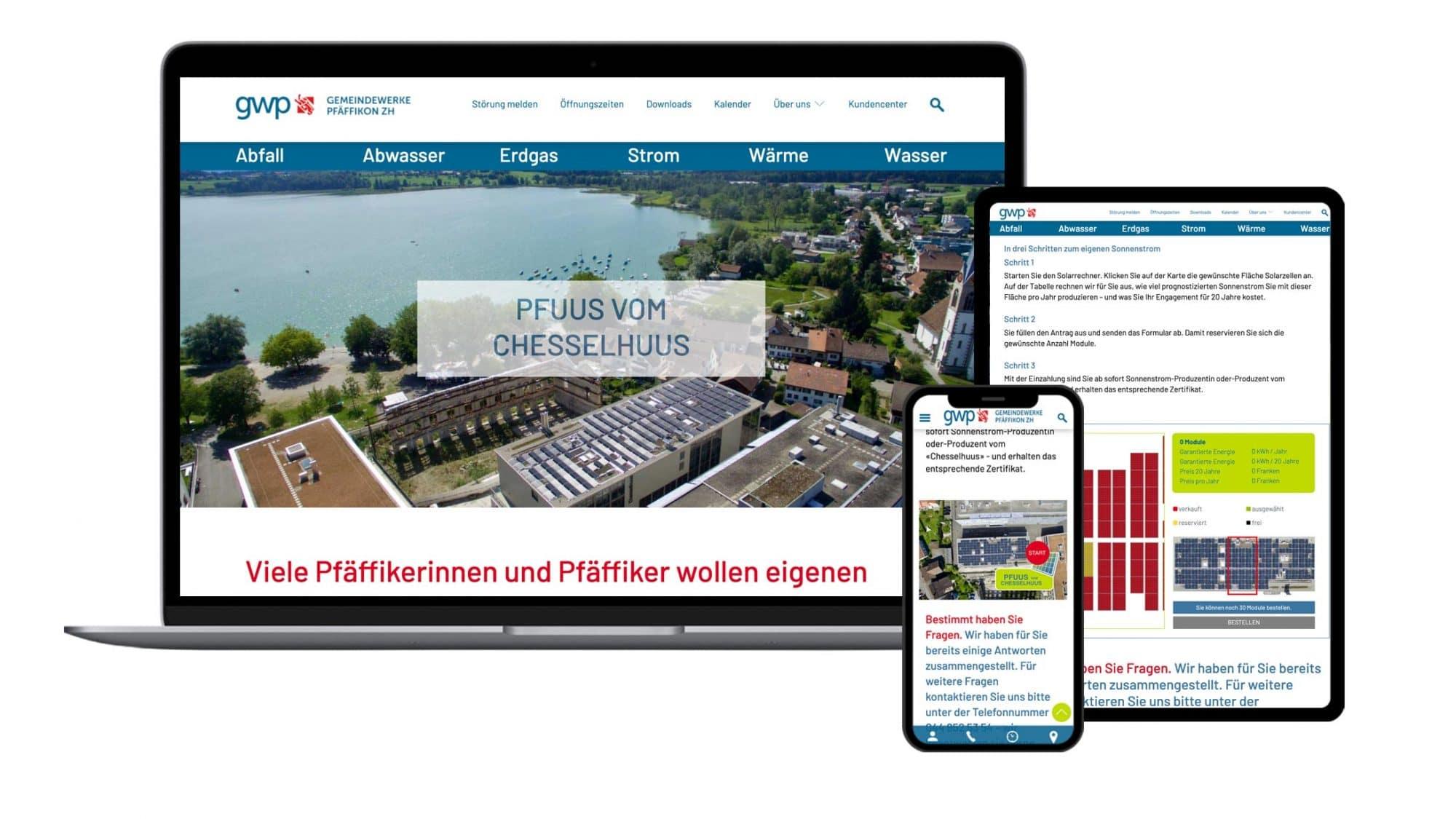 """Bebilderung der Kampagne """"Pfuus vom Chesselhuus"""" für die Gemeindewerke Pfäffikon"""