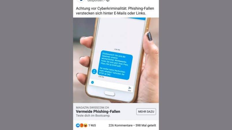 Screenshot eines Facebook-Posts