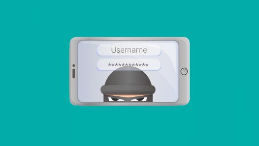 Infografik: Ein Ganove versteckt sich in einem Smartphone