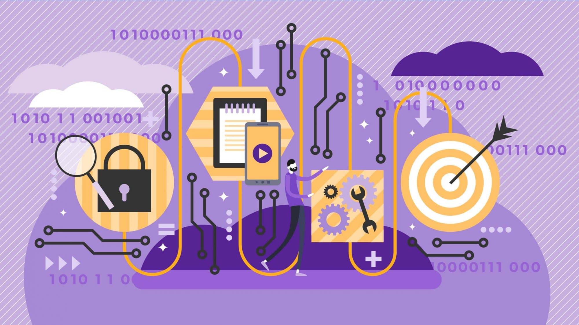 Illustration der Datenverarbeitung