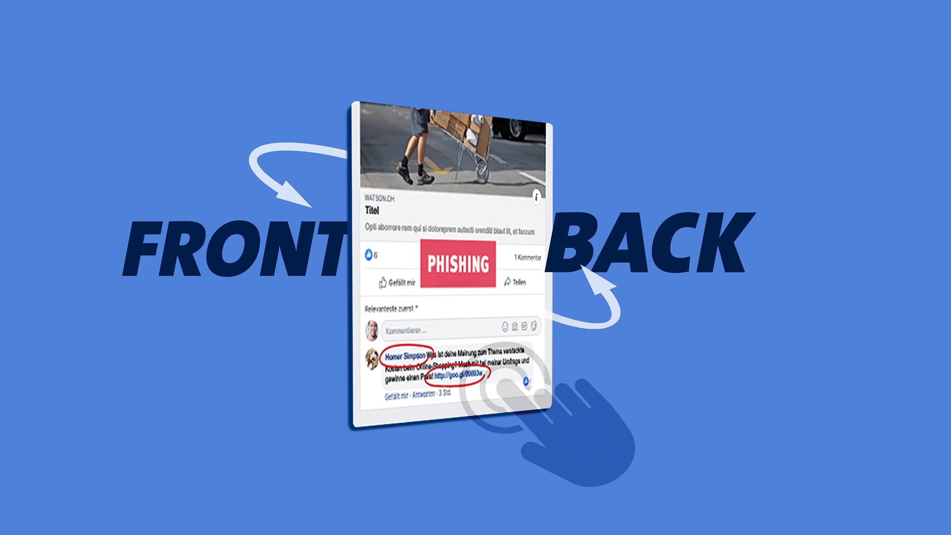 Schweizerinnen und Schweizer fühlen sich nicht immer sicher beim Surfen im Netz. Wendekarten zum Thema «Phishing-Fallen» schliessen diese Wissenslücken.